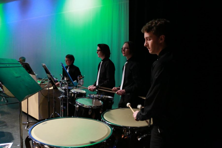Members of the CHS Percussion Ensemble.
