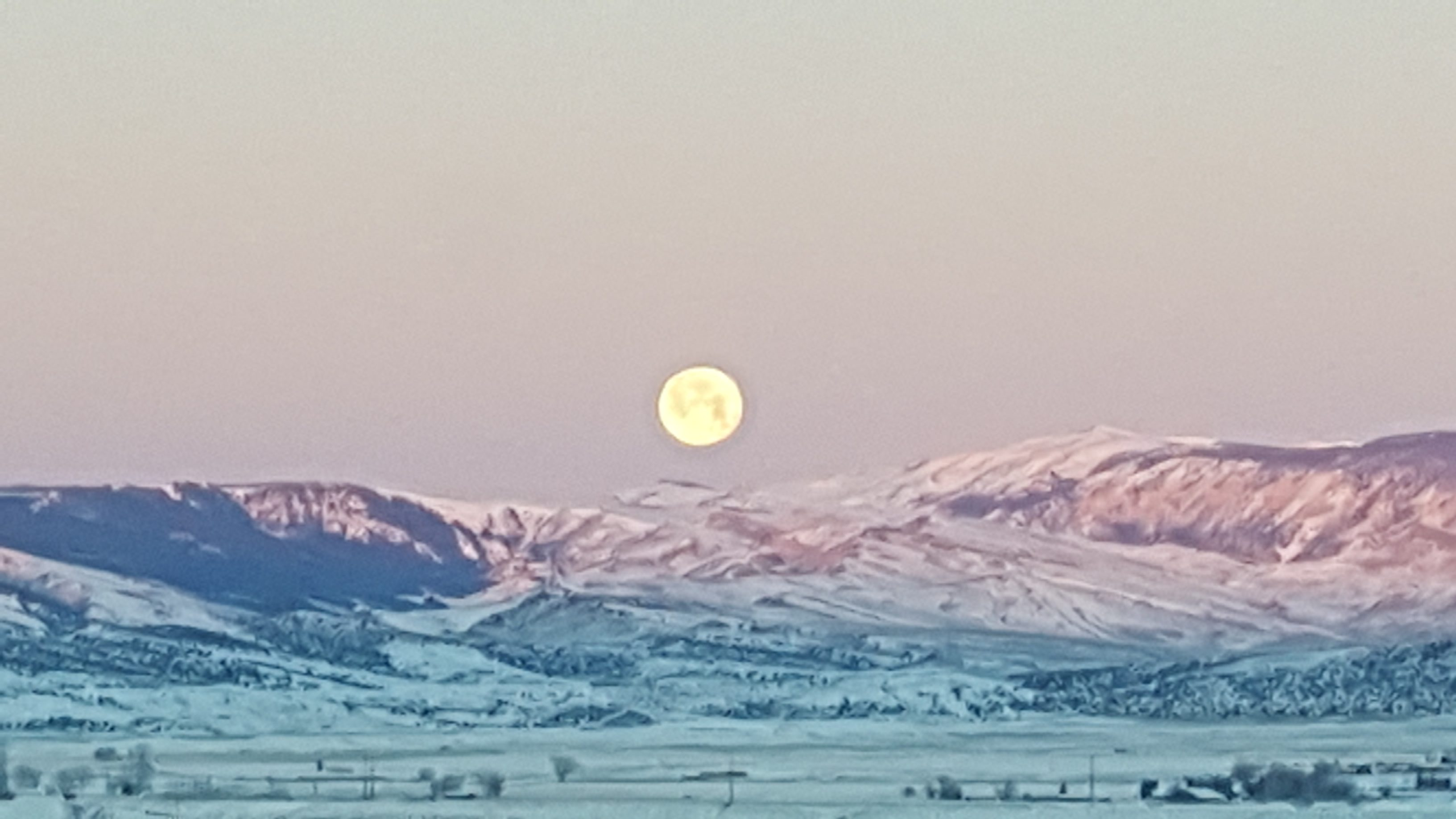 Blue Moon. North of Cedar Mtn 1.31.2018 by Patty Brus