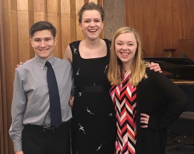 Ben Wambeke, Skylah Bree and Brynja Stalcup at the Benefit Concert for their Portland trip.