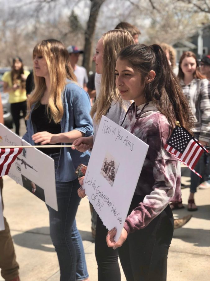 CHS+Students+Walk+Out+for+the+Second+Amendment