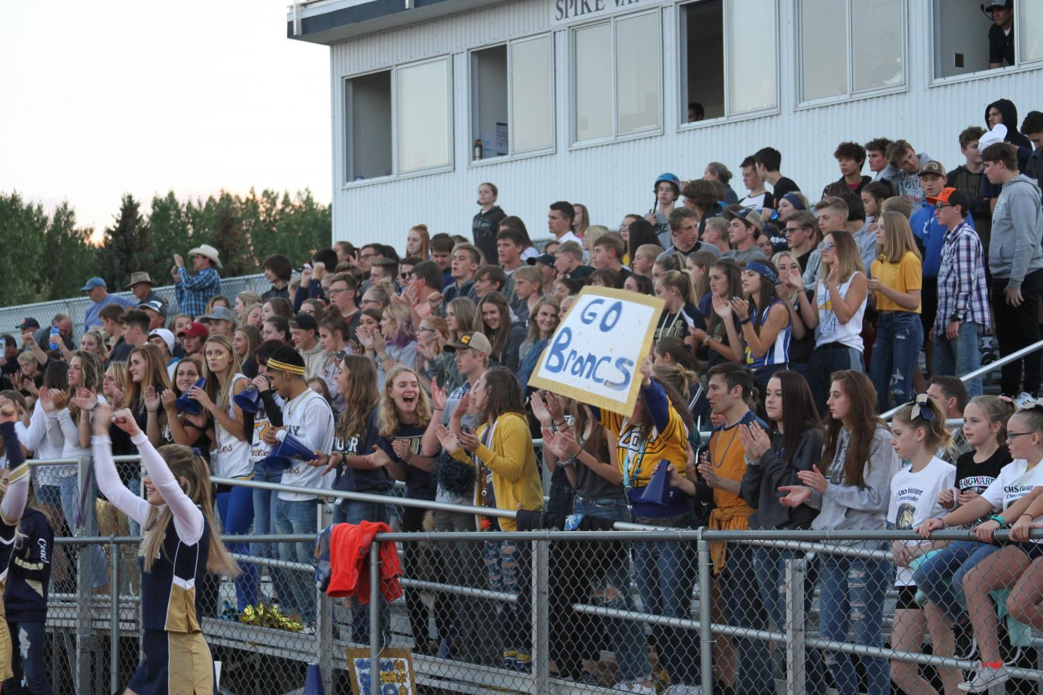 CHS students during this years first home football game showing school spirit.