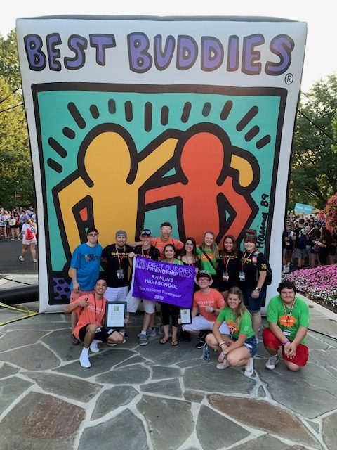 Mr. Holland located in the top row second person to the left at The Best Buddies Leadership Conference located in Bloomington, Ind.