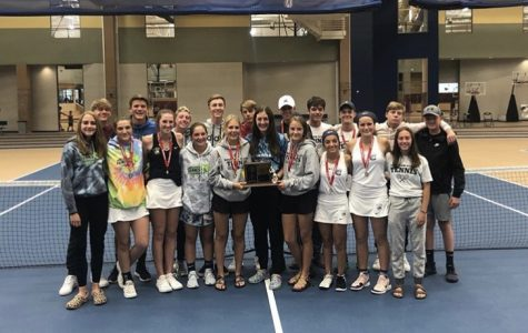 CHS Tennis team photographed at Statet Tennis.