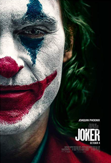 The movie poster for Joker.