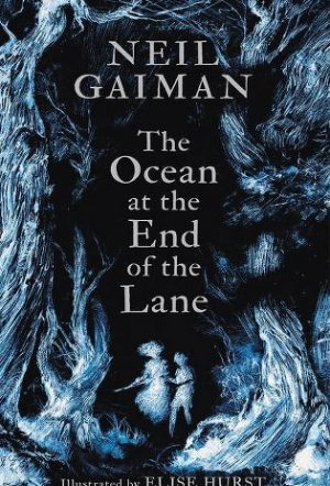 Book cover to The Ocean At The End Of The Lane by Neil Gaiman.